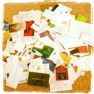 Biz Card Pile